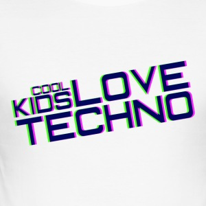 cool kids love techno - Men's Slim Fit T-Shirt