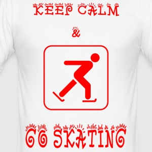 GO_SKATING - Männer Slim Fit T-Shirt