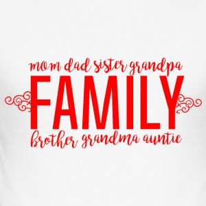 Family - Family Love - Männer Slim Fit T-Shirt