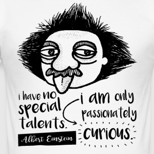 Albert Einstein - Slim Fit T-skjorte for menn