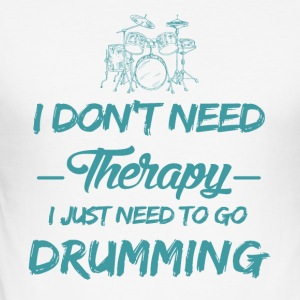 Speelt drums therapie - slim fit T-shirt