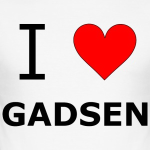 I love Gadsen - Männer Slim Fit T-Shirt