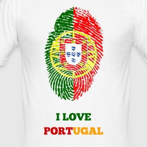 I LOVE PORTUGAL FINGERABDRUCK T-SHIRT - Männer Slim Fit T-Shirt