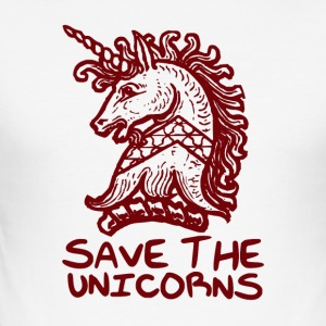 Unicorn - Save The Unicorns - Männer Slim Fit T-Shirt