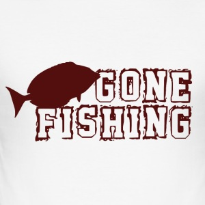 Gone Fishing - Fishing Addict - Men's Slim Fit T-Shirt