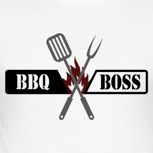 BBQ BOSS - Männer Slim Fit T-Shirt