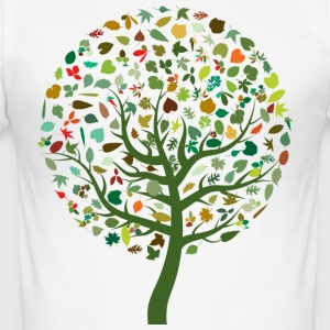 seizoensgebonden Leaves - slim fit T-shirt