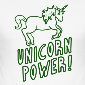 Unicorn - Power! - Männer Slim Fit T-Shirt