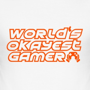 Gamer - Okay spillere - Slim Fit T-skjorte for menn