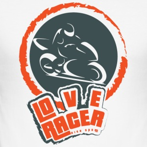 LOVE RACER Bike Sportspel - Slim Fit T-shirt herr