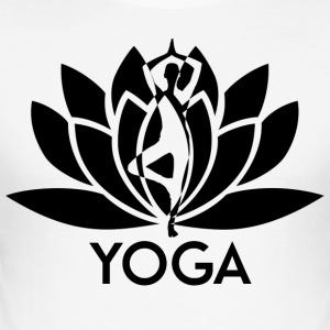 ++ ++ Yoga Flower - Slim Fit T-shirt herr