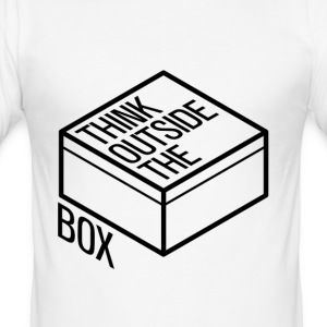 Think outside the box - Men's Slim Fit T-Shirt
