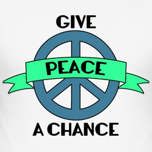 Hippie / Hippies: Give Peace A Chance - Tee shirt près du corps Homme