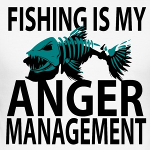 Anger Management - Fishing - Men's Slim Fit T-Shirt