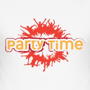 PARTY TIME - Tee shirt près du corps Homme