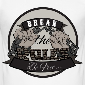 Break the Rules - Männer Slim Fit T-Shirt