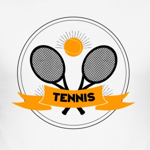 Tennislogo - Männer Slim Fit T-Shirt