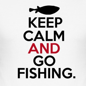 Keep Calm Go Fishing - Männer Slim Fit T-Shirt