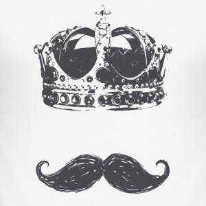 konge Moustache - Slim Fit T-skjorte for menn