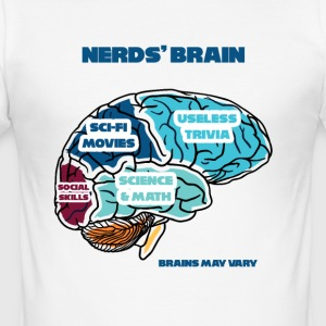 Nerd / Nerds: Nerd´s Brain - Männer Slim Fit T-Shirt