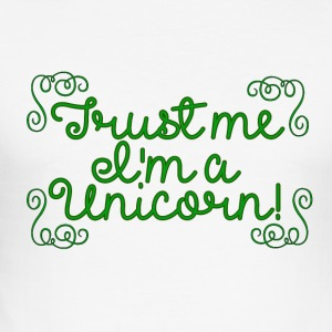 Unicorn - Trust me! - Männer Slim Fit T-Shirt