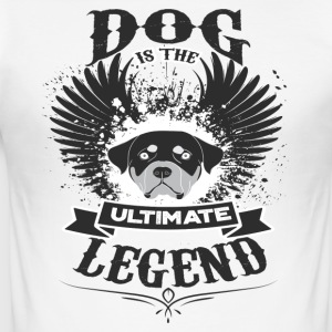 Dog THE LEGEND - Männer Slim Fit T-Shirt