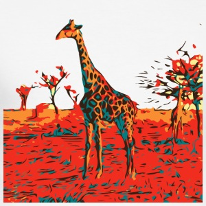 Fire Giraffe - Men's Slim Fit T-Shirt