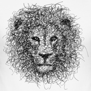 Lion Scribble - Men's Slim Fit T-Shirt