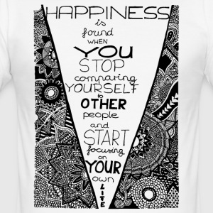 Klotterkonst Happiness - Slim Fit T-shirt herr
