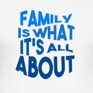 Family - Love - Männer Slim Fit T-Shirt