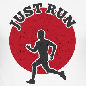 JUST RUN - Männer Slim Fit T-Shirt