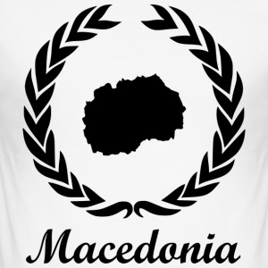 Connect ExYu Shirt Macedonia - Männer Slim Fit T-Shirt