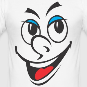 Cartoon lachendes Gesicht - Männer Slim Fit T-Shirt
