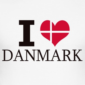 I LOVE DANMARK - Slim Fit T-skjorte for menn