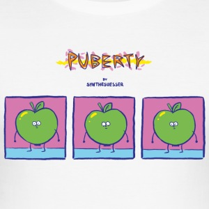 puberteit comic - slim fit T-shirt