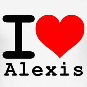 I love Alexis - Männer Slim Fit T-Shirt