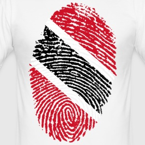 TRINIDAD AND TOBAGO FINGERPRINT T-SHIRT - Men's Slim Fit T-Shirt
