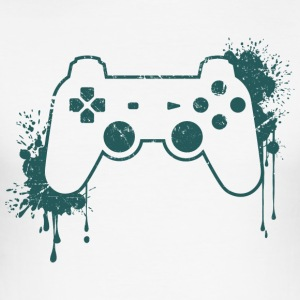 CONTROLLER RETRO - Männer Slim Fit T-Shirt