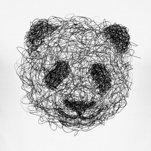 Panda Scribble - slim fit T-shirt