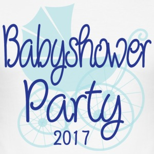 Baby Shower Party 2017 - Men's Slim Fit T-Shirt