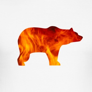 BEAR IN FIRE - Männer Slim Fit T-Shirt