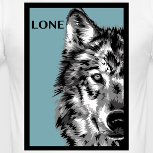 lone_wolf_blue - Herre Slim Fit T-Shirt