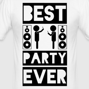 BEST PARTY EVER - Anti Smartphone - Männer Slim Fit T-Shirt