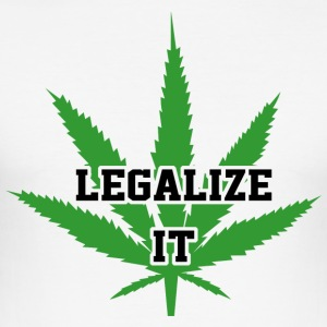 Legalize Marijuana Medical Cannabis Weed - Slim Fit T-shirt herr