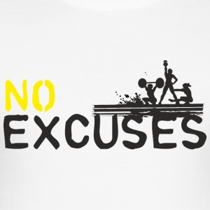 No Excuses - sport n'est pas assassiner - Tee shirt près du corps Homme