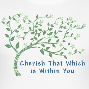 Yoga Cherish That Which Is Within You - Men's Slim Fit T-Shirt