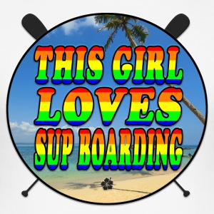 SUP BOARDING LOVE - Herre Slim Fit T-Shirt