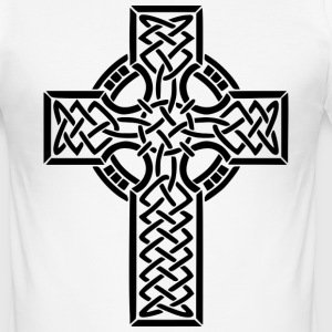 CELTIC CROSS T-SHIRT. - Men's Slim Fit T-Shirt