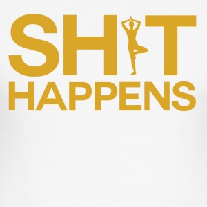 Shit Happens - Yoga Within - Men's Slim Fit T-Shirt