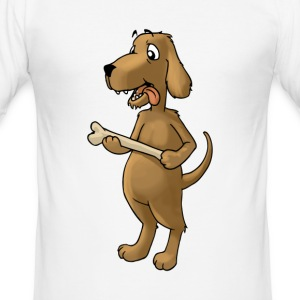 Hund Dog Bark Pet matskål foder - Slim Fit T-shirt herr